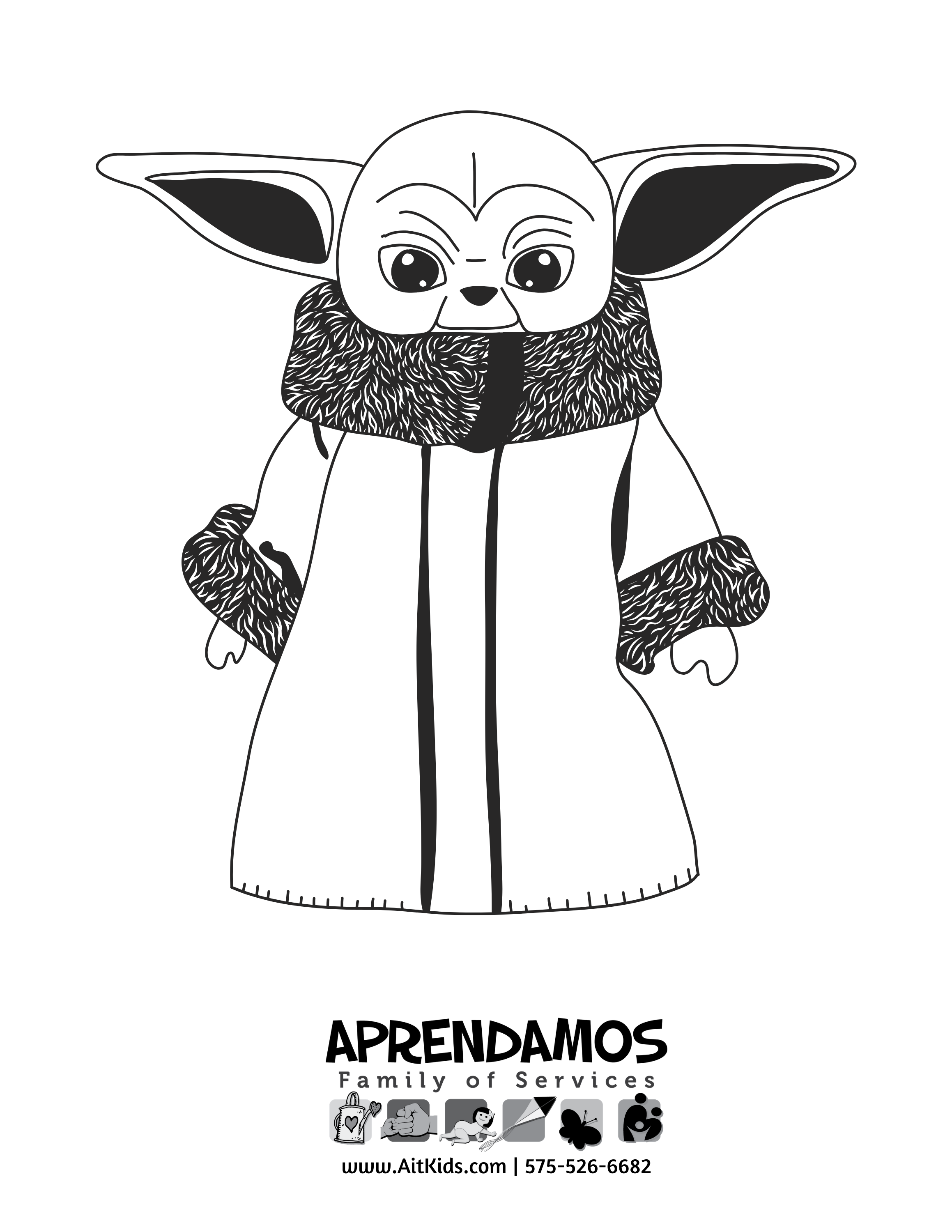 Yoda Coloring Page, Star Wars, Coloring Pages - Free Printable ... | 3000x2318